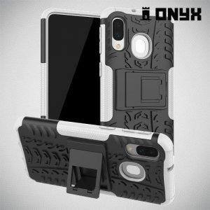 ONYX Противоударный бронированный чехол для Samsung Galaxy A40 - Белый