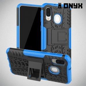 ONYX Противоударный бронированный чехол для Samsung Galaxy A40 - Синий
