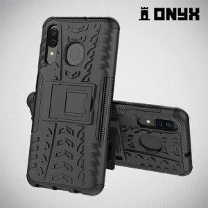 ONYX Противоударный бронированный чехол для Samsung Galaxy A50 / A30s - Черный