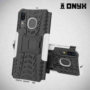 ONYX Противоударный бронированный чехол для Samsung Galaxy A50 / A30s - Белый