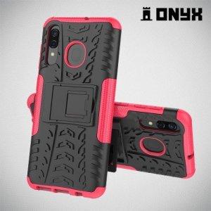 ONYX Противоударный бронированный чехол для Samsung Galaxy A50 / A30s - Розовый