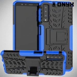 ONYX Противоударный бронированный чехол для Samsung Galaxy A7 2018 SM-A750F - Синий