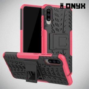 ONYX Противоударный бронированный чехол для Samsung Galaxy A70 - Розовый