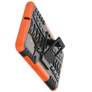ONYX Противоударный бронированный чехол для Samsung Galaxy A71 - Оранжевый