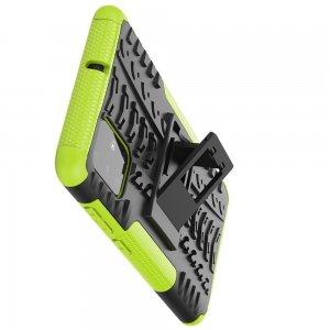 ONYX Противоударный бронированный чехол для Samsung Galaxy A71 - Зеленый