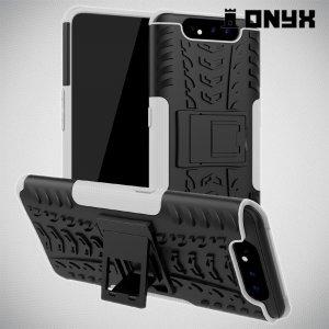 ONYX Противоударный бронированный чехол для Samsung Galaxy A80 / A90 - Белый