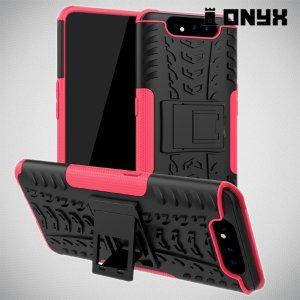 ONYX Противоударный бронированный чехол для Samsung Galaxy A80 / A90 - Розовый