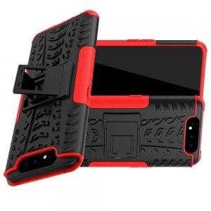 ONYX Противоударный бронированный чехол для Samsung Galaxy A80 - Красный