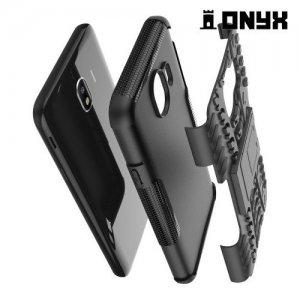 ONYX Противоударный бронированный чехол для Samsung Galaxy J4 2018 SM-J400F - Черный