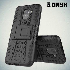 ONYX Противоударный бронированный чехол для Samsung Galaxy J6 2018 SM-J600F - Черный
