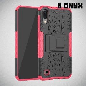 ONYX Противоударный бронированный чехол для Samsung Galaxy M10 - Розовый