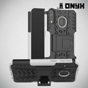 ONYX Противоударный бронированный чехол для Samsung Galaxy M20 - Белый