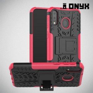 ONYX Противоударный бронированный чехол для Samsung Galaxy M20 - Розовый