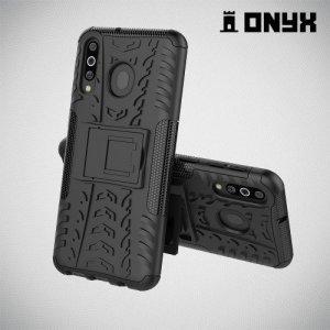 ONYX Противоударный бронированный чехол для Samsung Galaxy M30 - Черный