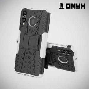 ONYX Противоударный бронированный чехол для Samsung Galaxy M30 - Белый