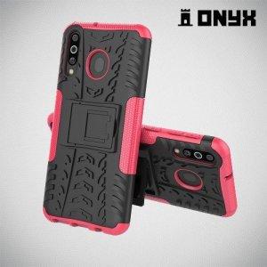 ONYX Противоударный бронированный чехол для Samsung Galaxy M30 - Розовый
