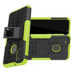 ONYX Противоударный бронированный чехол для Samsung Galaxy M30s - Зеленый