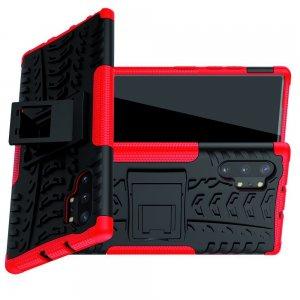 ONYX Противоударный бронированный чехол для Samsung Galaxy Note 10 Plus / 10+ - Красный / Черный