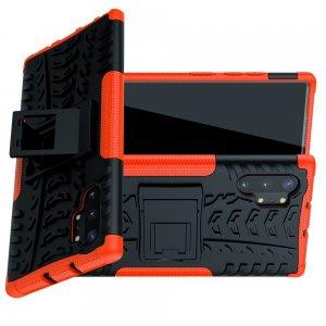 ONYX Противоударный бронированный чехол для Samsung Galaxy Note 10 Plus / 10+ - Оранжевый / Черный