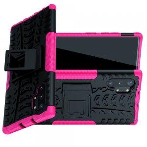 ONYX Противоударный бронированный чехол для Samsung Galaxy Note 10 Plus / 10+ - Розовый / Черный