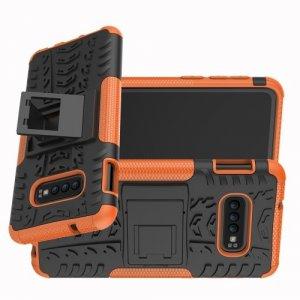ONYX Противоударный бронированный чехол для Samsung Galaxy S10e - Оранжевый
