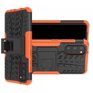 ONYX Противоударный бронированный чехол для Samsung Galaxy S20 - Оранжевый