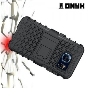 ONYX Противоударный бронированный чехол для Samsung Galaxy S6 - Черный