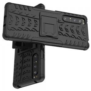 ONYX Противоударный бронированный чехол для Sony Xperia 1 II - Черный