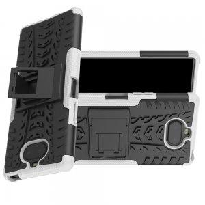 ONYX Противоударный бронированный чехол для Sony Xperia 20 - Белый