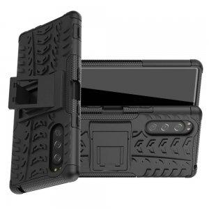 ONYX Противоударный бронированный чехол для Sony Xperia 5 - Черный