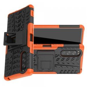 ONYX Противоударный бронированный чехол для Sony Xperia 5 - Оранжевый
