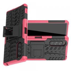 ONYX Противоударный бронированный чехол для Sony Xperia 5 - Светло-Розовый