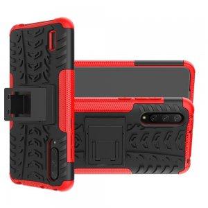 ONYX Противоударный бронированный чехол для Xiaomi Mi 9 lite - Красный / Черный