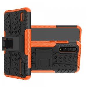 ONYX Противоударный бронированный чехол для Xiaomi Mi 9 lite - Оранжевый / Черный