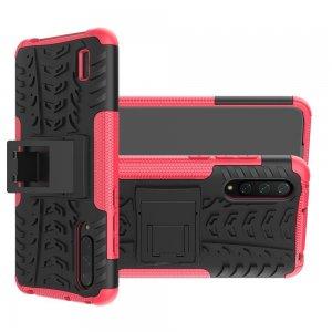 ONYX Противоударный бронированный чехол для Xiaomi Mi 9 lite - Розовый / Черный