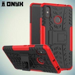 ONYX Противоударный бронированный чехол для Xiaomi Mi Max 3 - Красный