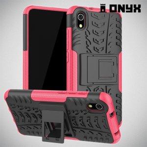 ONYX Противоударный бронированный чехол для Xiaomi Redmi 7A - Розовый