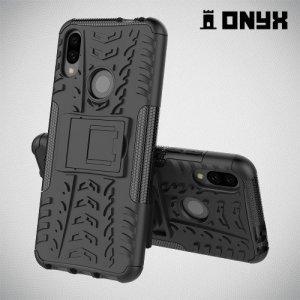 ONYX Противоударный бронированный чехол для Xiaomi Redmi Note 7 / Note 7 Pro - Черный