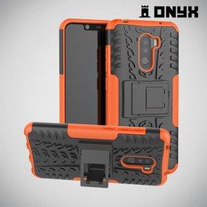ONYX Противоударный бронированный чехол для Xiaomi Redmi Note 8 Pro - Оранжевый