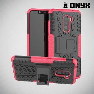 ONYX Противоударный бронированный чехол для Xiaomi Redmi Note 8 Pro - Розовый