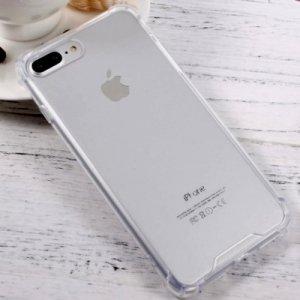 Пластиковый прозрачный противоударный чехол с усиленными силиконовыми краями для iPhone 8 Plus / 7 Plus