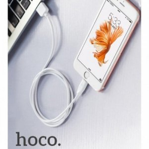 Плоский Кабель Lightning для iPhone и iPad Hoco Rapid Charging - белый