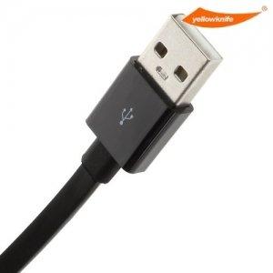 Плоский Кабель Lightning для iPhone и iPad YellowKnife MFi сертифицированный - черный