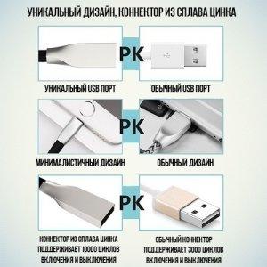 Плоский кабель USB Type-C Red Line Smart High Speed белый