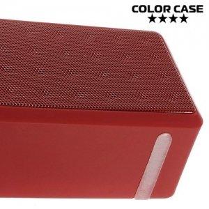 Портативная беспроводная Bluetooth колонка ColorCase X3 Красная