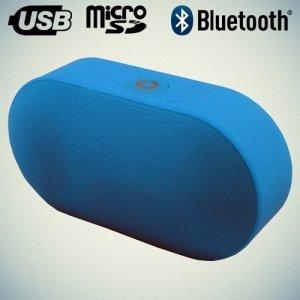 Портативная беспроводная Bluetooth колонка Wireless Speaker голубая J15