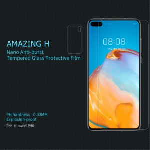 Противоударное закаленное олеофобное защитное стекло на Huawei P40 Nillkin Amazing H