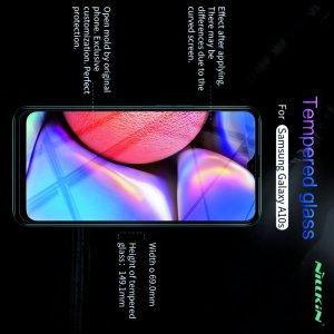 Противоударное закаленное олеофобное защитное стекло на Samsung Galaxy A10s Nillkin Amazing H
