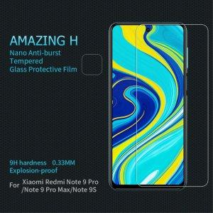 Противоударное закаленное олеофобное защитное стекло на Xiaomi Redmi Note 9 Pro (9S,9 Pro Max) Nillkin Amazing H