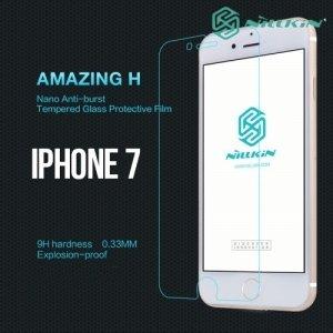 Противоударное закаленное стекло на iPhone 8/7 Nillkin Amazing 9H